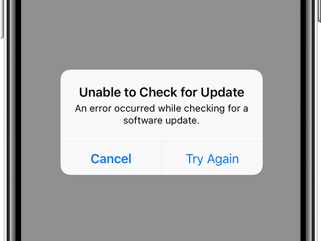 iPhone not updating